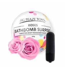BathBomb s prekvapením - minivibrátorom vo vnútri - ruža
