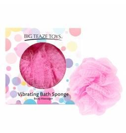 Umývacia špongia s minivibrátorom vo vnútri - ružová