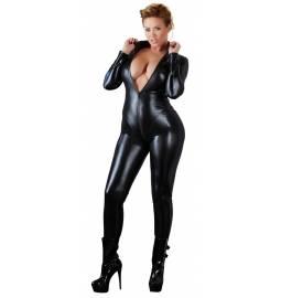 Carolina kombinéza s mokrým efektom Plus Size čierna: XL