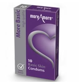 MoreAmore kondómy Basic Skin 10 ks
