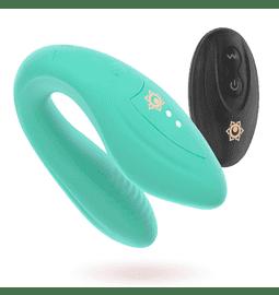 Ritual Kama párový vibrátor na dálkové ovládání zelený