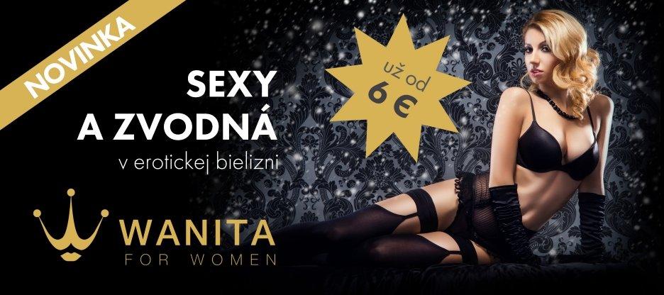 Erotická bielizeň Wanita už od 6 EUR